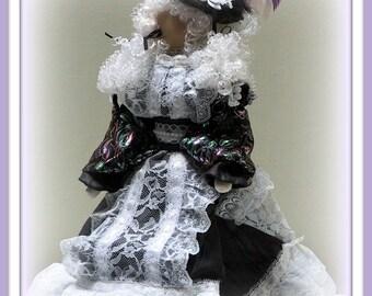 Marie Antoinette Victorian Faceless Lady Art Doll E-Pattern