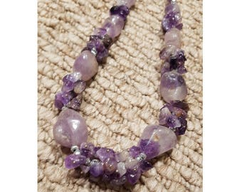 Chunky Amethyst Statement Necklace
