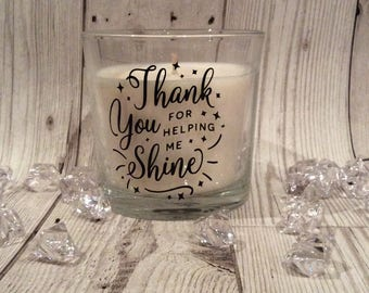 Teachers gift- teachers thank you - scented candle - personalised gift- gifts under 10