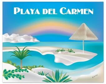 SALE Playa del Carmen 8x10 Print, Playa del Carmen wall art, Playa del Carmen poster, Playa del Carmen Mexican art - E8-O-PLAY