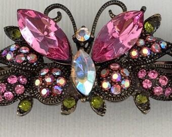 Beautiful Crystal butterfly barrette