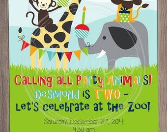 Party Animals Invitation (digital download)
