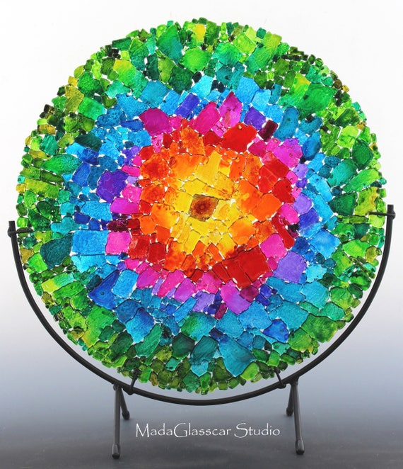 Nebula II Fused Glass Panel