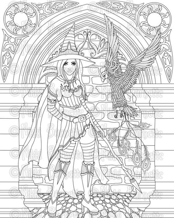 gothic print out coloring pages - photo#36
