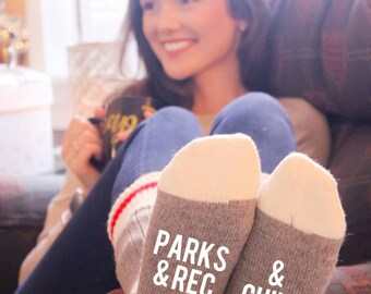Parks And Rec & Chill Cabin Socks