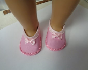 Pink-Mary Jane- Flats- Doll Shoes-- for 18 inch dolls- fits american girl dolls