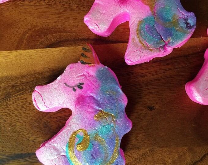 Unicorn Kisses Scented Solid Bubble Bath Natural Bubble Bar Vegan