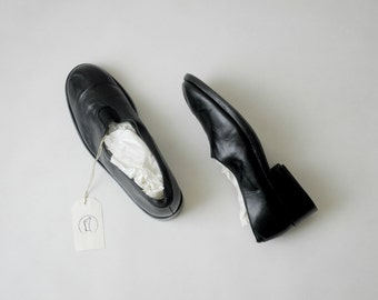 Robert Clergerie Black Leather Loafers Size 36