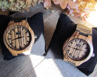 FREE Engraving, Wood Watch, couples watches, Boyfriend Gift, watch set, Husband Gift, Anniversary Gift, matching watches, Gift  SM105+SM106