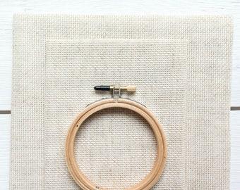 Cross Stitch Fabric - 14 count Aida Cloth | 100 percent cotton Aida Fabric for Cross Stitch Embroidery in Natural