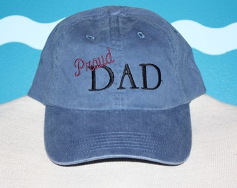 Dad Baseball Cap - Proud Dad ball cap- embroidered dad baseball cap - custom dad hat - custom embroidery