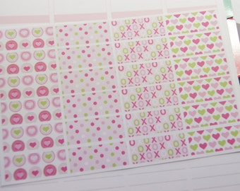 Washi Tape Like Stickers Valentine Planner Stickers Planners Stickers PS351d