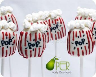 Circus Popcorn Cake Pops