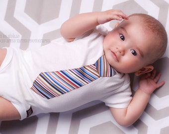 Baby Boy Tie Shirt Bodysuit Applique Tie Baby Shower nb 3m 6m 9m 12m 18m Ready to Ship