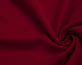 Red 60'' Solid Stretch Scuba Knit Fabric by the Yard - Style 3044