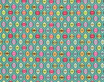 Tabby Road Fabric- Free Spirit Fabric-Green Cat Eyes-PWTP095-Free Shipping
