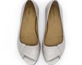 High qaulity leather shoes, Aya ivory, bridal shoes