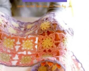 Colorful Crochet Motif Goods - Japanese Craft Book