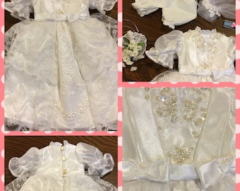 Doll Wedding Dress - Vintage Lace - Fits American Girl Doll or 18 inch Doll