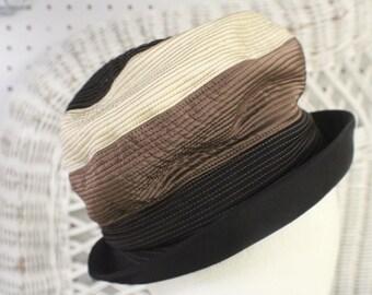Vintage Ladies Cloche Hat J.L. Hudson, 1940's Brown Cloche Hat