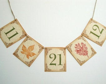 Wedding Date Banner Autumn Fall Rustic Photo Prop Decoration