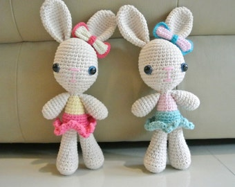 Crochet Bunny Amigurumi - Handmade Crochet Amigurumi Toy Doll - Bunny Crochet - Amigurumi Bunny