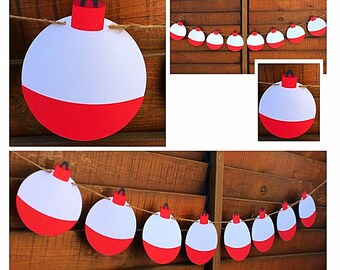 Fishing pennant Banner - Bobber Banner, Flag Garland, Pennant Garland, Paper flags, Bunting , Wedding Flags, Birthday Flags. Space themed