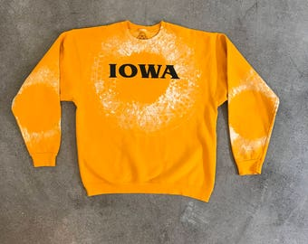 Vintage Iowa Hand Blocked Crewneck