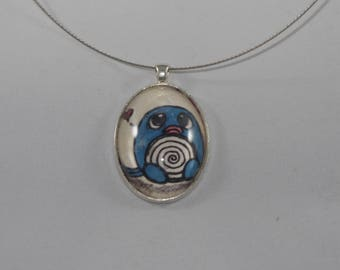Hand Drawn Poliwag Pendant/Necklace