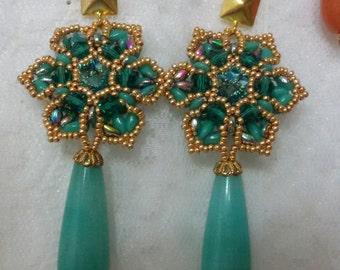 Baroque flower Earrings-earrings Baroque Flower