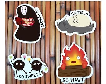 Studio Ghibli Vinyl Sticker Decals - Spirited Away, Totoro, Howl's Moving Castle