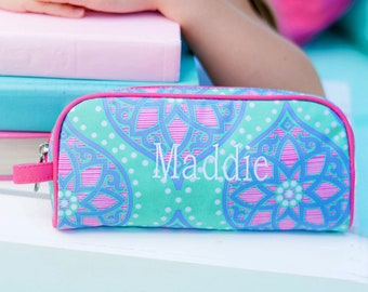 Marlee Girls Monogrammed Pencil Case, Toiletry Bag, Back to School