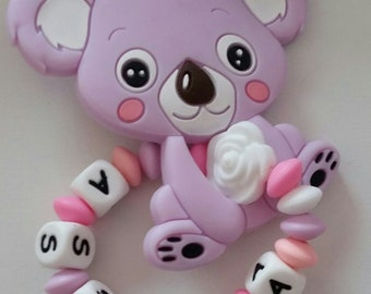 All silicone teether personalized