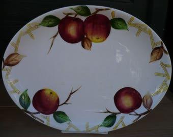 Nola Ware Crab Apple Painted Plate, Japan
