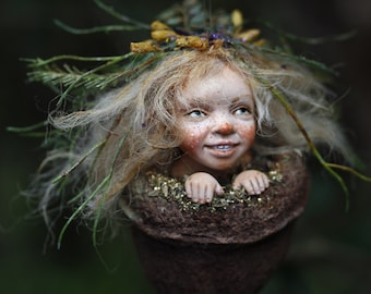 Pixie girl Nicka, handmade decoration, Wichtelkind