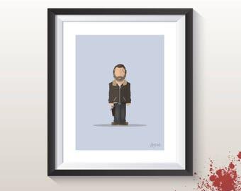 Featureless Portrait - TWD Rick Grimes