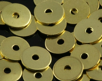 400 Pcs Raw Brass 6 mm Circle middle hole Raw Brass  Charms ,Findings 81R-42 tmlp