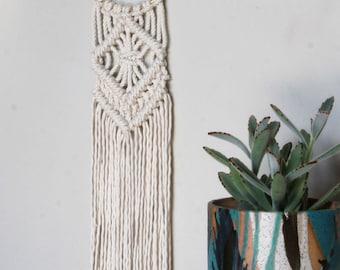 Macrame Wall Hanging on Gold Ring | Modern Macrame on Gold Hoop | Tapestry | Wall Hanging | Boho Decor