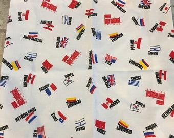Flag Tote Bag, Traveler Tote Bag, International Tote Bag, Canvas Tote Bag
