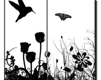 Nature in Black and White – 1 x 2 inch - (2) Digital sheets
