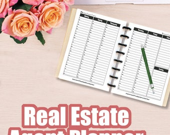 Real Estate Planner, Agenda Calendar, Real Estate Agent Goal Setting, Top Selling Items Planner, Printable Planner, Real Estate Business