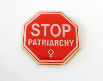 Stop Patriarchy - Feminist Logo 25mm Lapel Pin