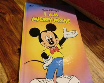 I Am Mickey Mouse by Cindy West Illustrated by Sue DiCicco p. 1991 vintage children's hardback Golden Sturdy book