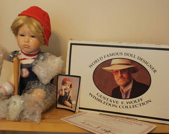 """Vintage """"Mickey's Out"""" Wimbledon Collection, Gustave F. Wolff Limited Edition Doll"""