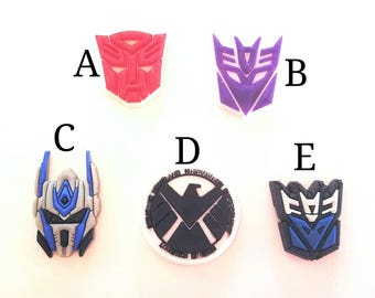 Hearing Aid Tube Trinkets or Cochlear Cuties:  Transformer Inspired Cartoon Characters!  Please select quantity 2 for a pair!