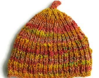 Wool hat, winter hat, wool beanie, slouch hat, rasta hat, handmade wool hat, hand knitted wool hat, handspun wool hat, hand dyed wool hat