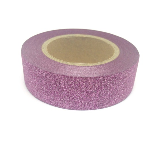 Light pink sparkly glitter sticky tape 15mm x 10m aloadofball Images