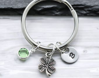 Clover Keychain - Lucky 4 Leaf Clover Irish Keychain for Women, Girls & Kids - St. Patricks Day Gift - Luck of the Irish Four Leaf Clover