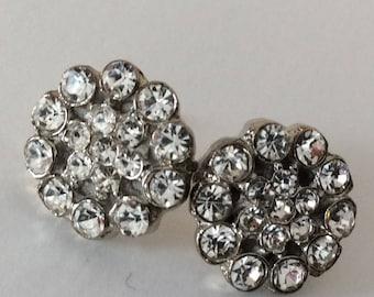 Rhinestone cluster earrings