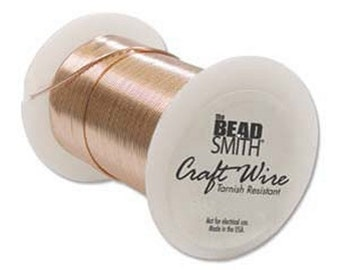 Beadsmith 28ga Copper Color Tarnish Resistant Craft Wire - 40 Yards - Jewelry Making - Crafts